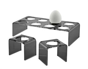 Eggcups in black - 6 pcs. (Neon Living)