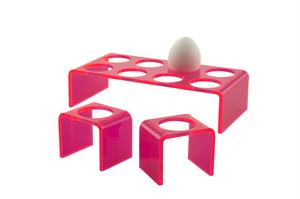 Eggcup in pink - 6 pcs.  (Neon Living)