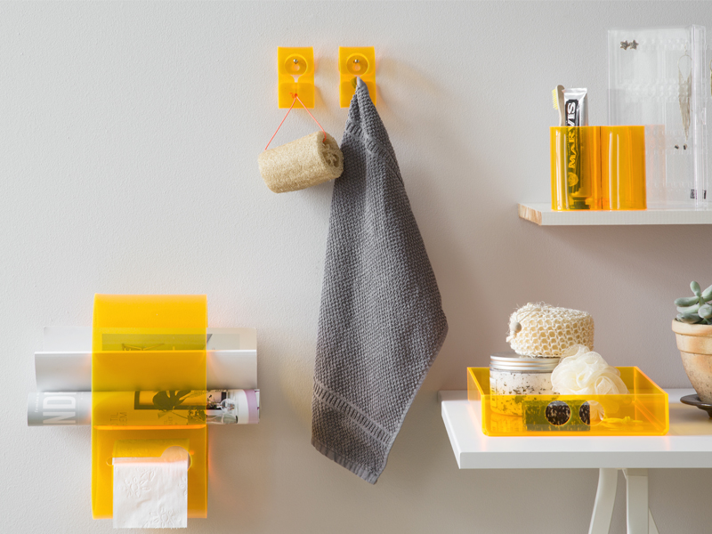 SHOP THE LOOK-ORANGE BATHROOM