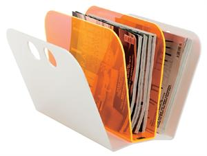 Magazine Fan - Orange/White